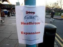 Stop Heathrow Expansion sign