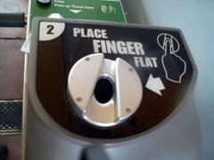 Fingerprinting machine