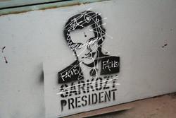 Nicolas Sarkozy graffito