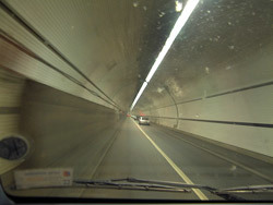 Driving through Rotherhithe Tunnel