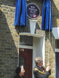 Roy Porter Plaque Unveiled