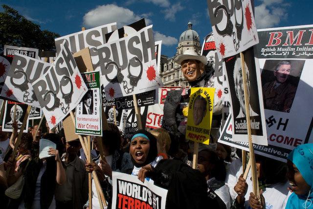 Anti Bush Protest in Pictures