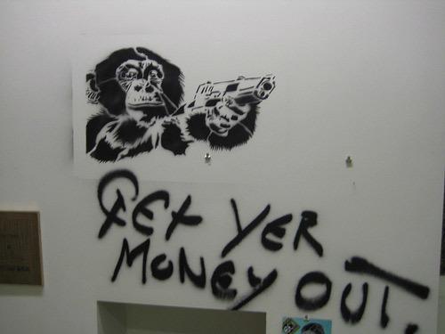 Monkey graffito