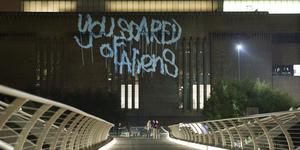 Laser Tagging Tate Modern