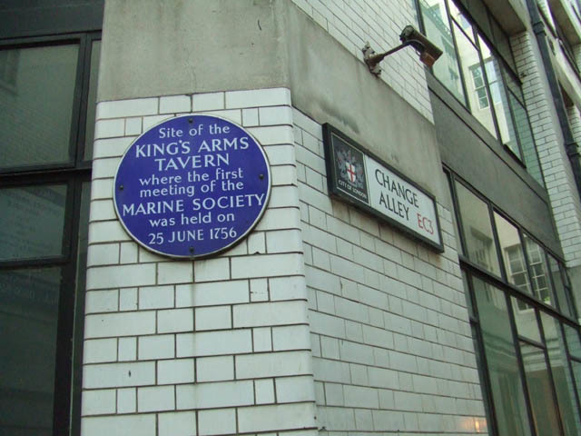 Where the idea for a marine society was first floated.