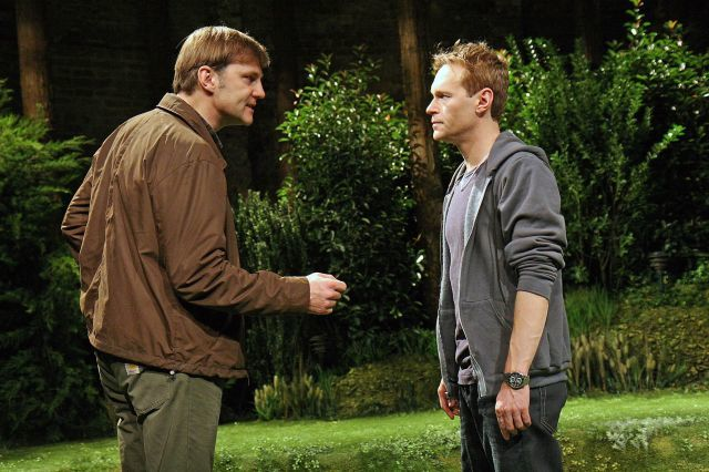 David Morrissey and Steven Mackintosh. Photo by John Haynes.