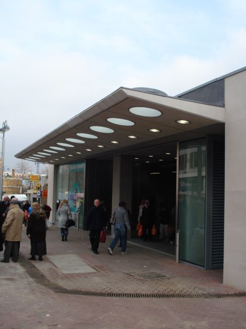 The new DLR station at Woolwich Arsenal