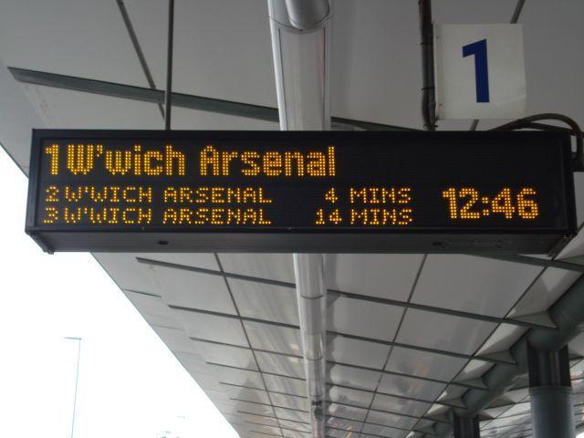 Train indicator board at King George V station