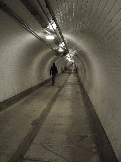 Woolwich foot tunnel. Honestly not as scary as it looks