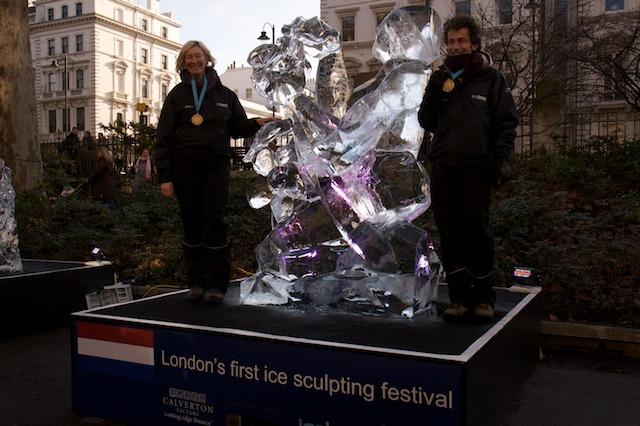 The winning sculpture Natalie Ujuk