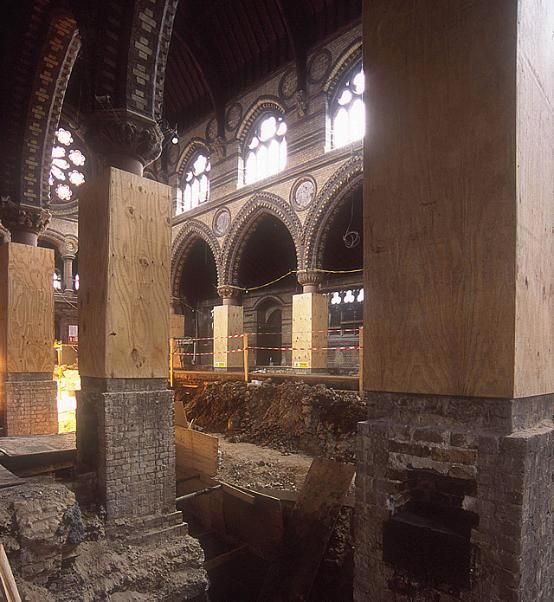 St Stephen's, early on in the restoration process