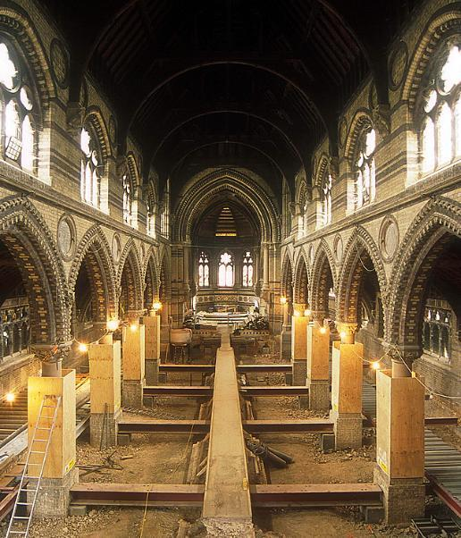 Mid-way through the restoration of St Stephen's
