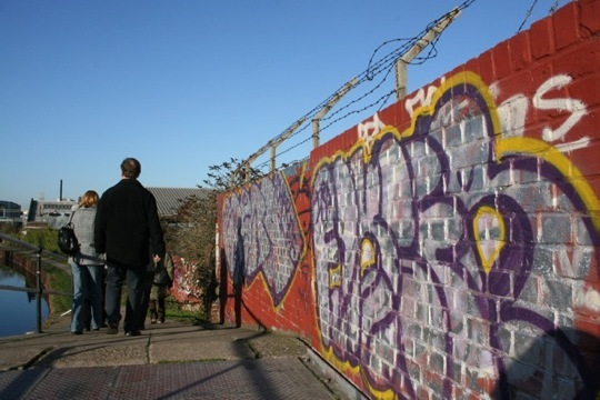 colourful graffiti - will it be here in 2012?  culture or vandalism?
