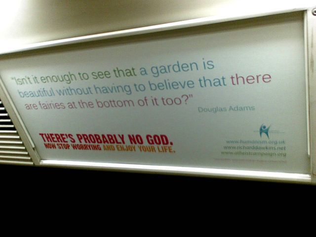 Douglas Adams, spotted on the Central Line / image courtesy of flashboy