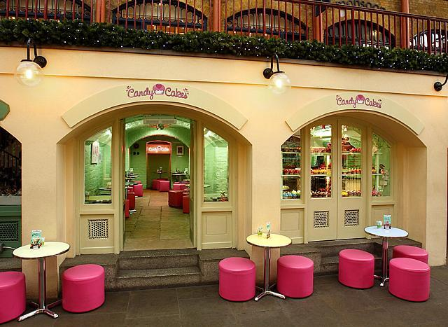 The outside of the new Candy Cakes shop in the Piazza in Covent Garden