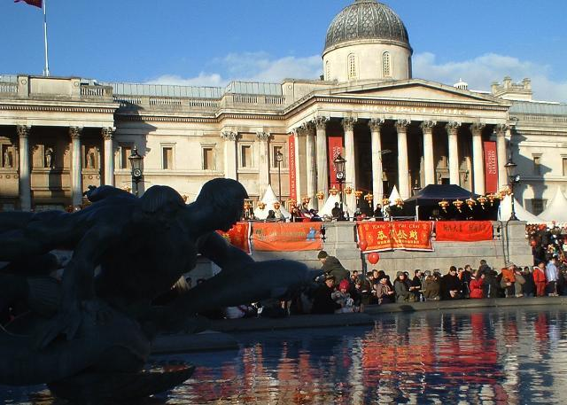 Bringing some celebratory colour to Trafalgar Square