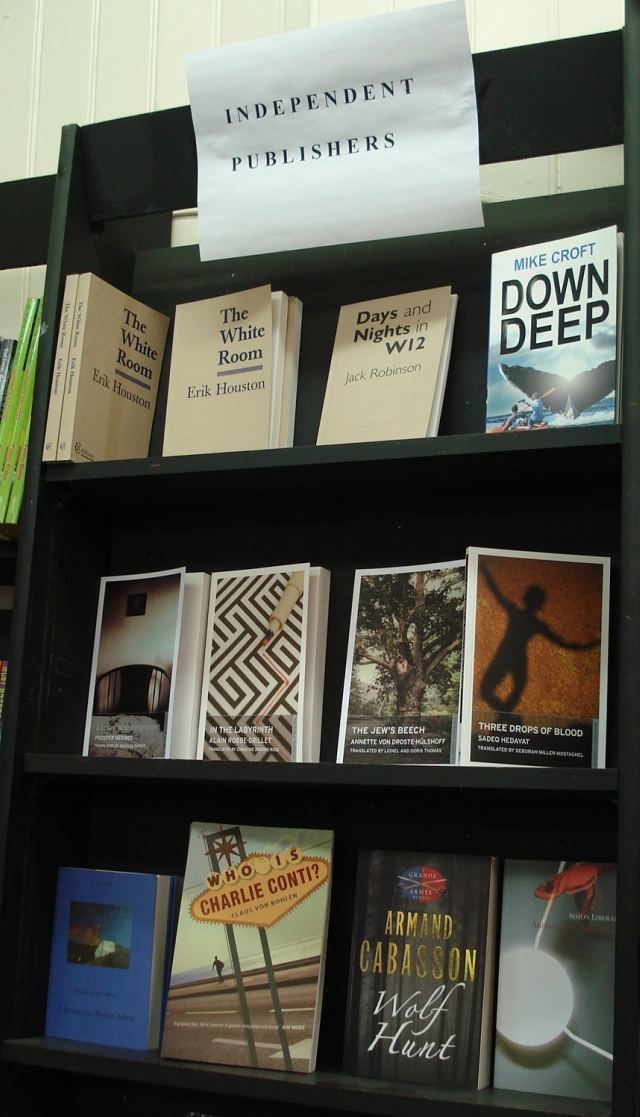 The shop supports independent publishers. And rightly so