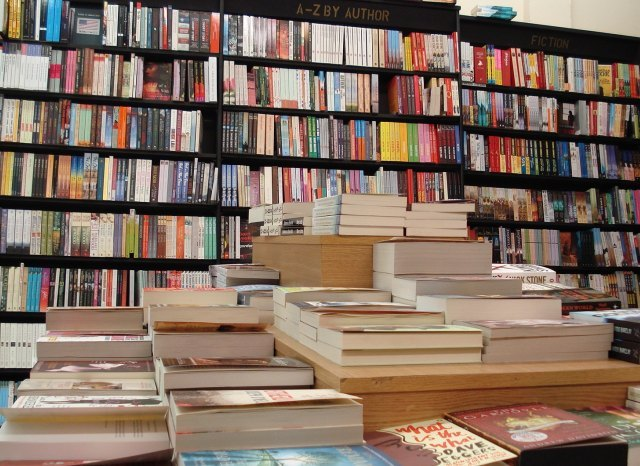 Piles and piles of books for your browsing pleasure