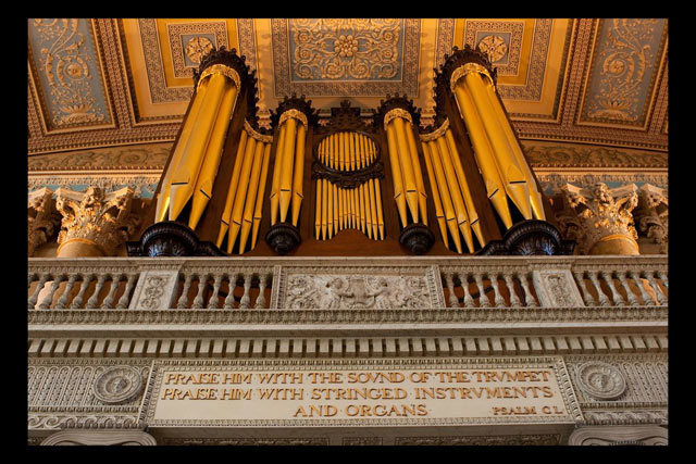 Greenwich Hospital Chapel's organ, as noted by Patterson. By Brett.