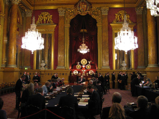 The main chamber of Goldsmiths Hall