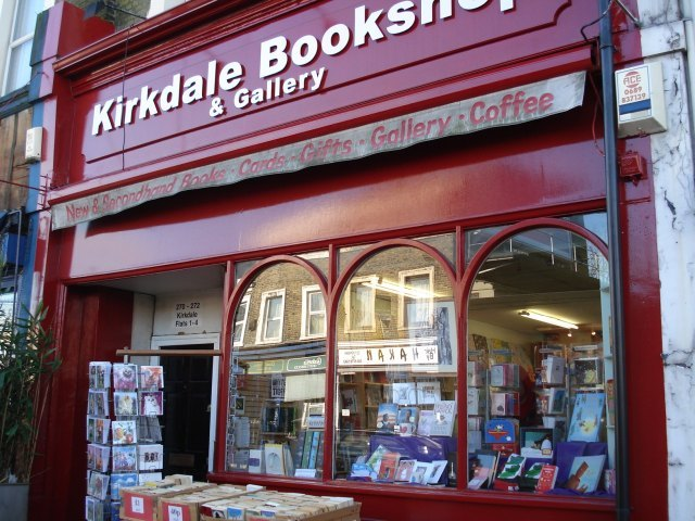 Outside the Kirkdale Bookshop and Gallery