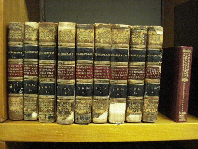 Tiny volumes of Shakespeare and Tennyson