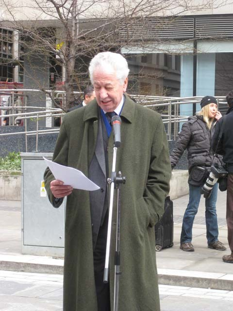 'Chief Commoner' of the City of London, John Alfred Barker, opens the tower. Image by M@.