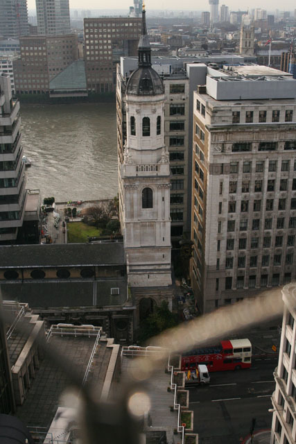 Looking towards the site of Old London Bridge, which passed beneath the tower of St Magnus the Martyr. You can still find remains in the churchyard, and a model of the bridge within the church. Free history lesson. See, it's worth clicking on these photos sometimes. Image by Amanda Farah.