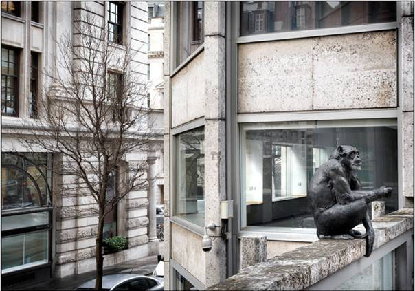 Chimpressive Sculpture In Economist Plaza