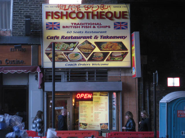 Fishcotheque, Waterloo Road. More Grease than Saturday Night Fever.