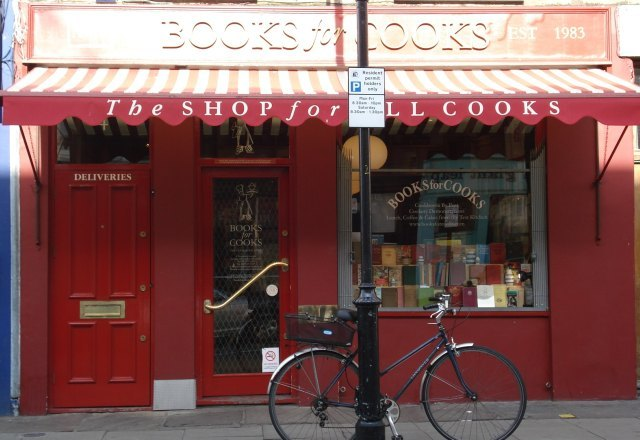 Someone wisely cycled to Books for Cooks to burn off all that cake