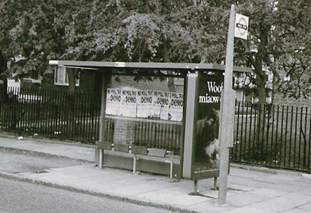 Poll Tax bus stop