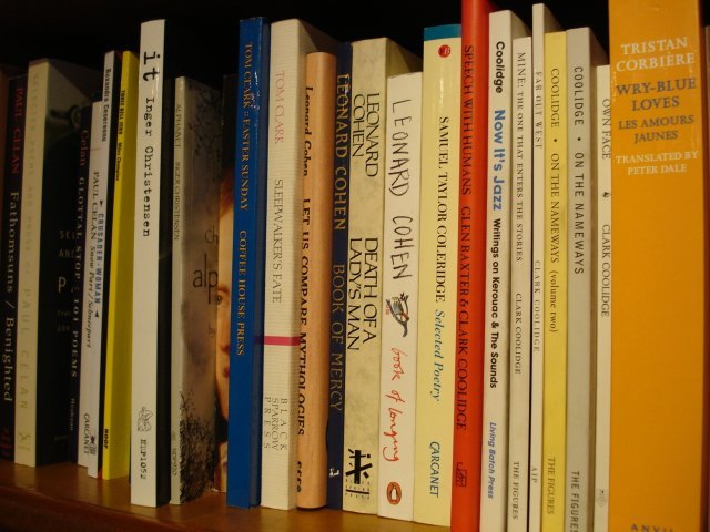 A selection of the poetry on offer. We'd like to see Alexandra Burke trying to get onto these shelves