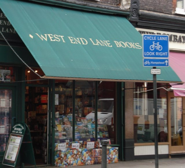 Outside West End Lane Books