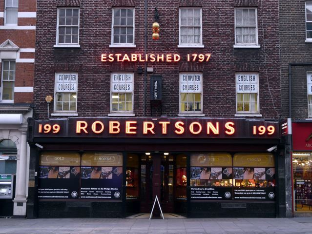 The wonderful neon signs of Robertsons, Edgware Road, W1