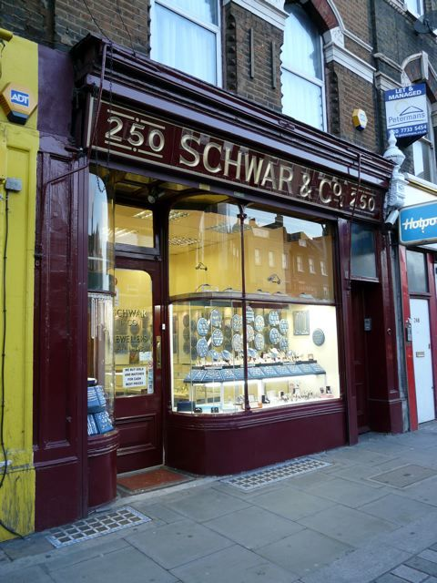 The beautiful frontage of Schwar & Co, Walworth Road, SE17, who offer best prices for gold and watches