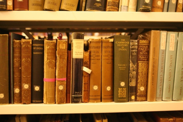 The stacks contain 30,000 old and new titles in world cultures, natural history, and musicology.