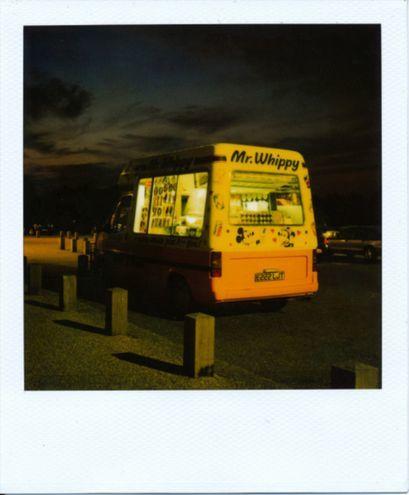 Mr. Whippy, taken with a Polaroid SX70