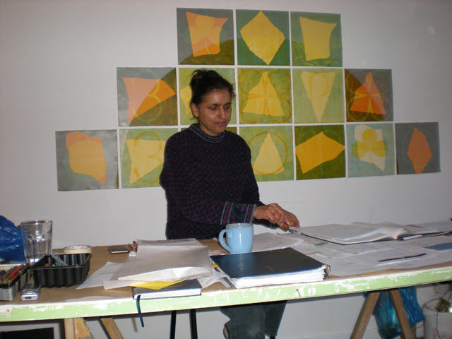 Bhajan Hunjan, one of the artists in Balfron Tower
