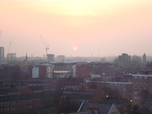 The sun sets on Hackney, that rose-red empire Image / Julie Palmer-Hoffman