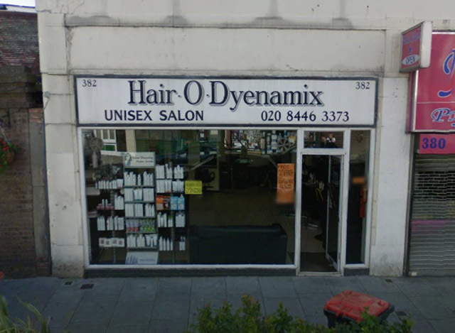 More puns in one name than you could shake a barber's pole at. Hair-O-Dyenamix can be found at 382 Ballards Lane, North Finchley.