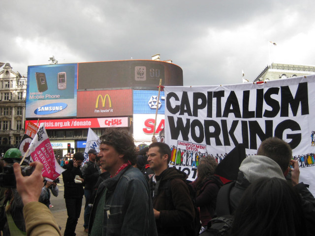 Capitalism + massive adverts / image by Matt from London
