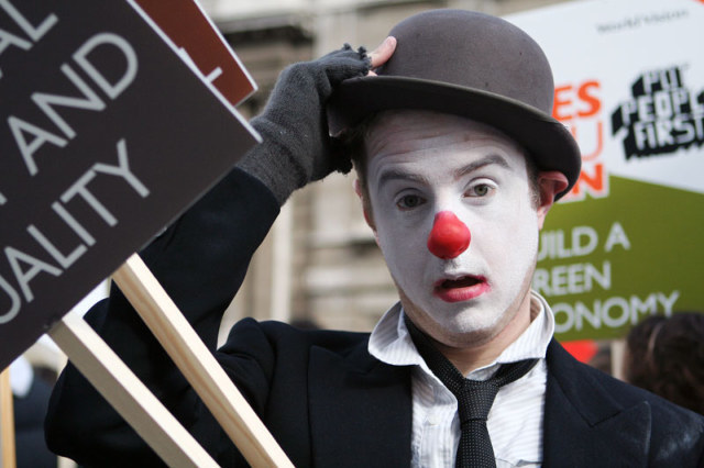 A comment on clownish financial regulation, or climate change policy, perhaps? / image by Tanya N