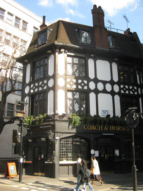 The Coach and Horses, Bruton Street. Image by M@.