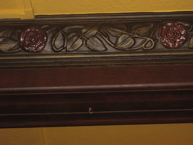 Tudor roses on the beams of the Coach and Horses