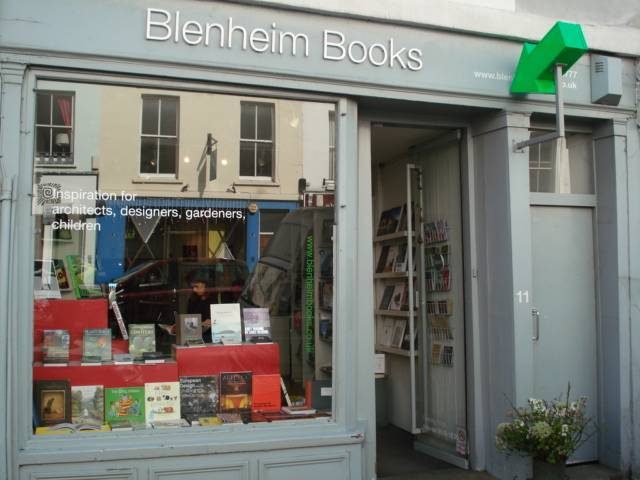 Watch for the big green arrow if you're looking for Blenheim Books