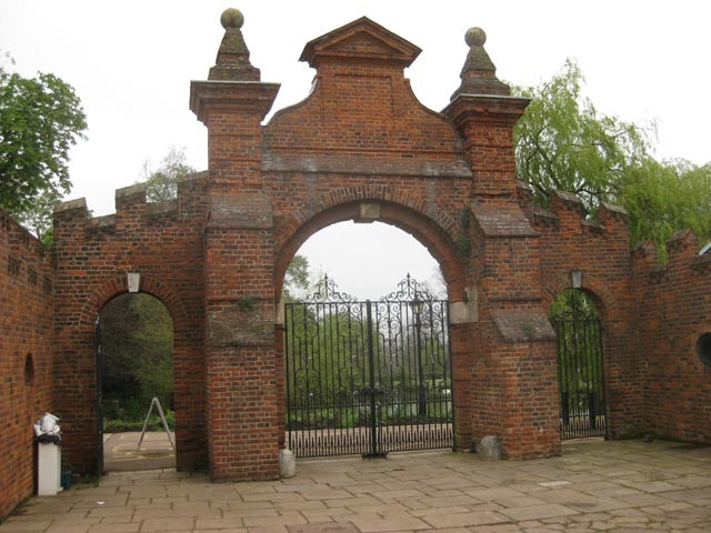 The stable gate of Forty Hall - thought to have been designed by Inigo Jones.