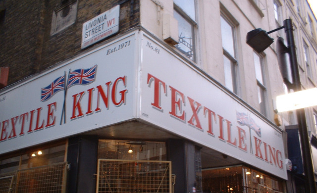 Bernie Fields' tailoring and textiles shop - it's still 1969 inside