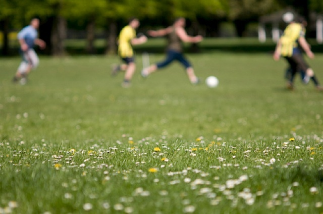 Photo of the Day: Football in the Park