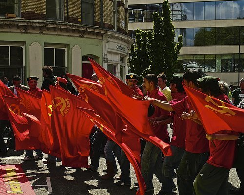 Marxist Leninist Communist Party in Clerkenwell Green. Photo by Nick Peligno via the Londonist Flickr Pool.